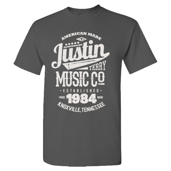 Justin Terry Music T-Shirt<br/>Heather Gray