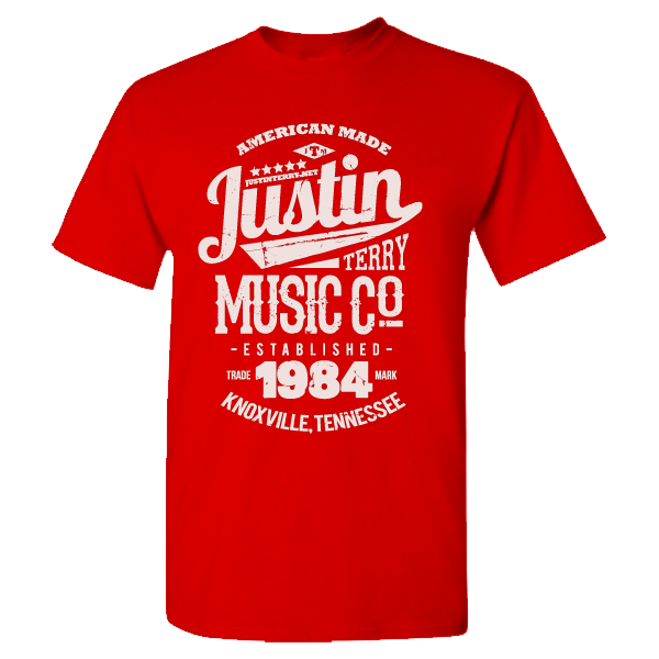 Justin Terry Music T-Shirt<br/>Heather Red